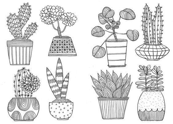 Pin de LI Tian en Tree | Pinterest | Suculentas, Bordado y Dibujo