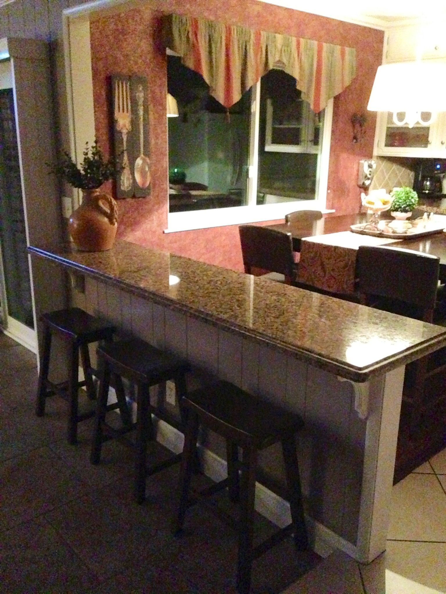 Turn That Half Wall Into A Breakfast Bar...additional Seating U0026 Serving Area