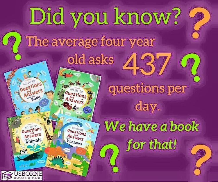 Did you know the average four year old asks 437 questions