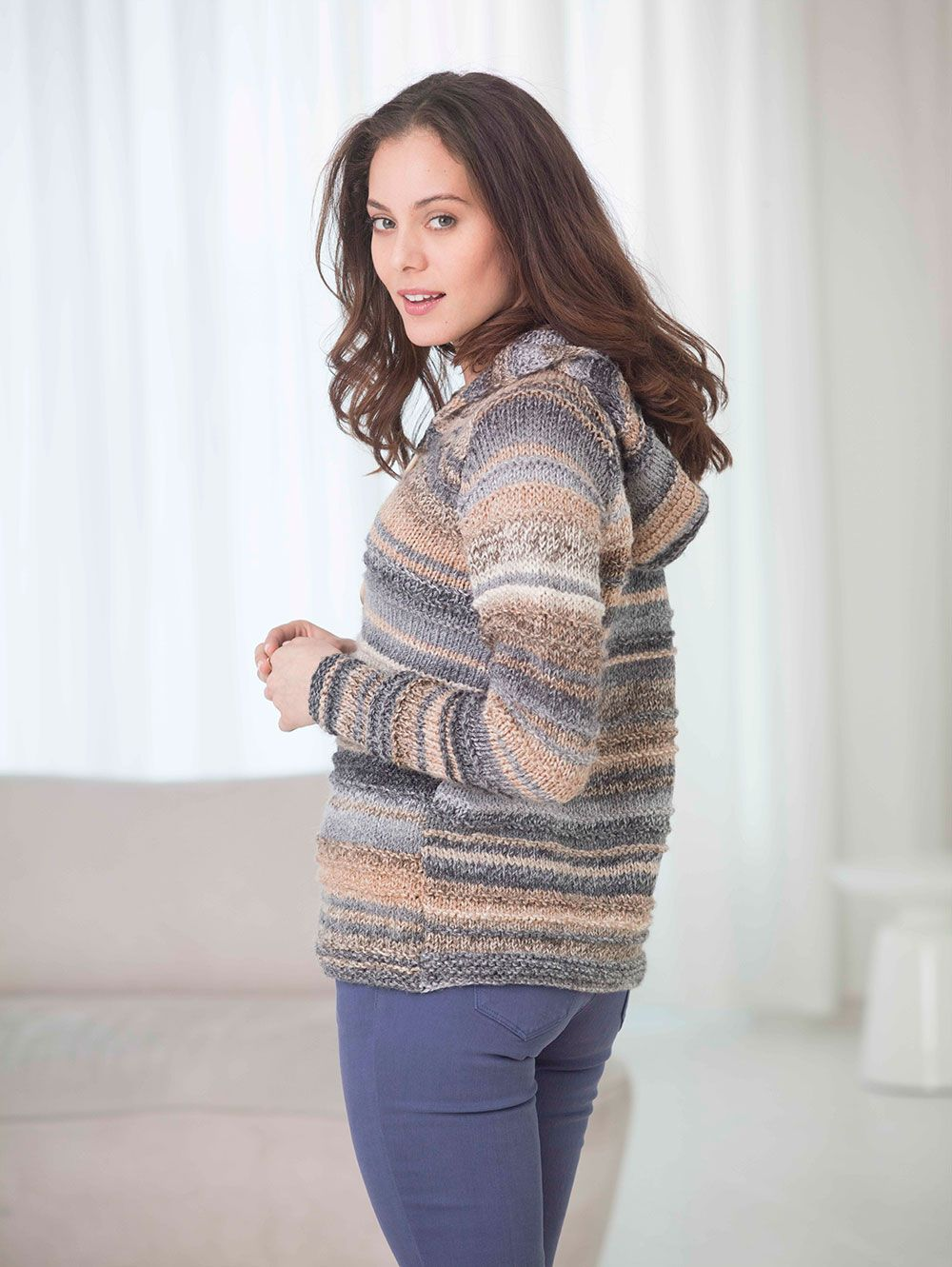This raglan cardigan is great to wear on summer evenings. Make it ...