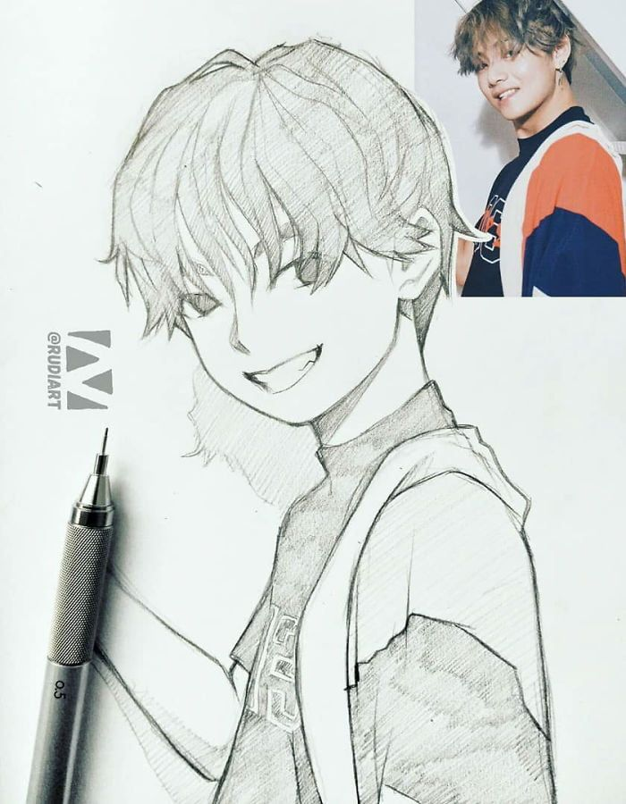 This Illustrator Sketches People As Anime Character And The Result Is Impressive Anime Phim Hoạt Hinh Phac Thảo Nghệ Thuật