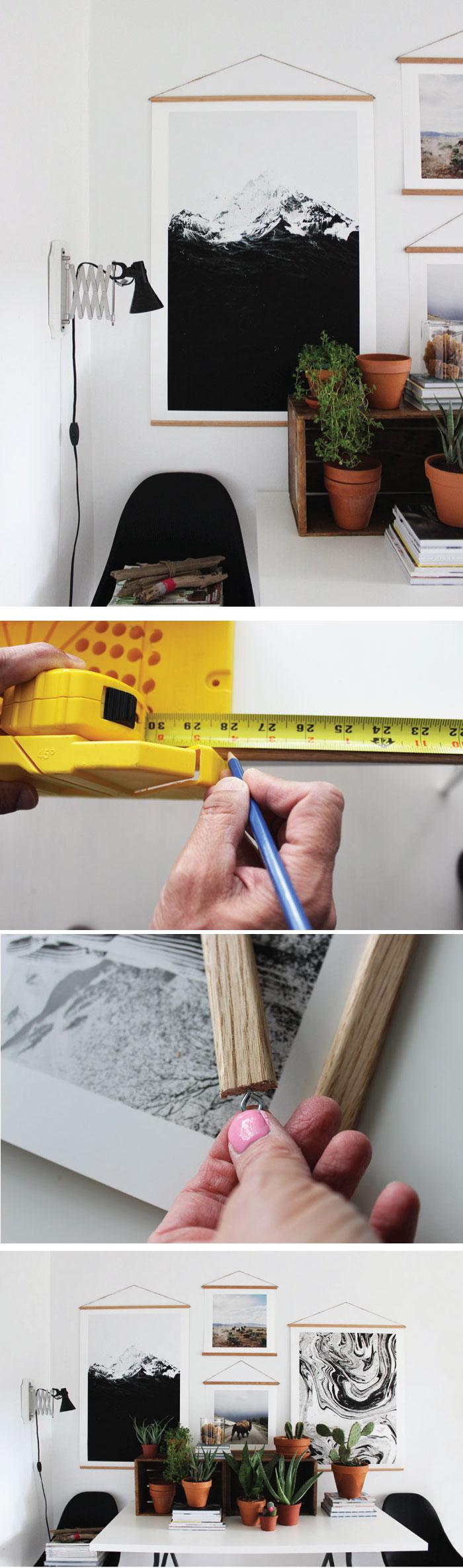 easy diy dowel rod frames diy home pinterest deko diy deko und zuhause. Black Bedroom Furniture Sets. Home Design Ideas