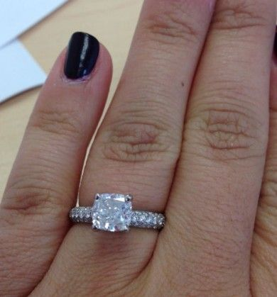 1 5 Carat Cushion With 75 In Micro Pave Diamonds So I Love The