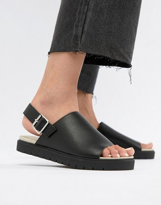 discount outlet locations Monki slip on ankle strap sandal in black new styles cheap online OtDLIY