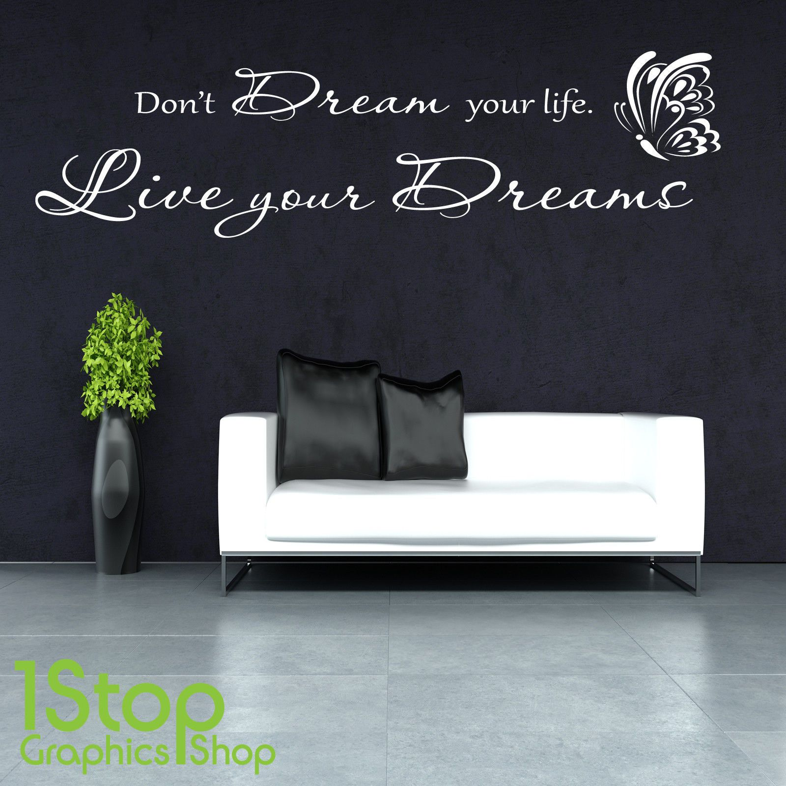 Donut dream your life wall sticker quote bedroom lounge wall art