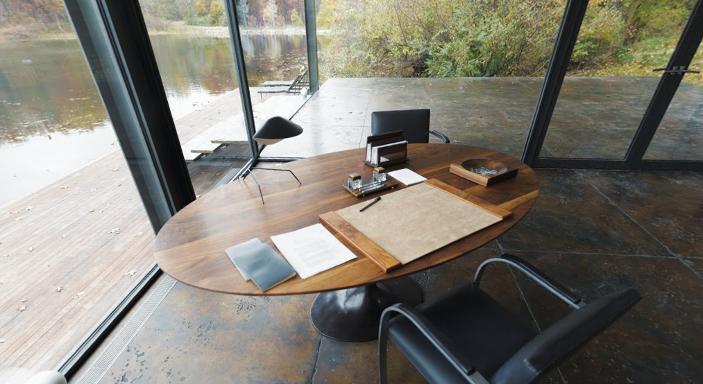 Want to design your home office like Bruce Wayne? Check out http://www.filmandfurniture.com/ to find out how! #vintage #Dazor #lamp #desk #BatmanVSuperman