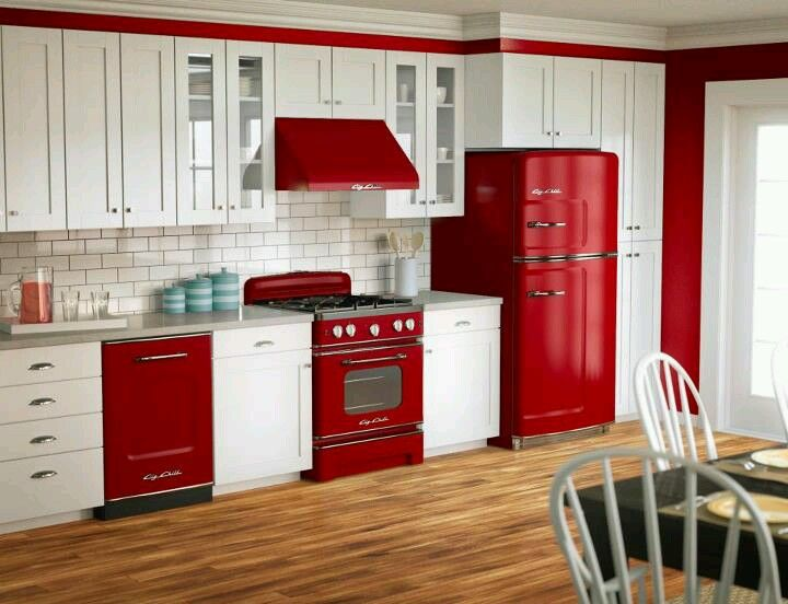 Cocina Roja Home interiors Pinterest Interiors and Kitchens