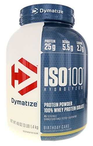 Dymatize ISO 100 Whey Protein Powder Isolate Birthday Cake 3 Lbs Price 5019 FREE Shipping Hashtag1