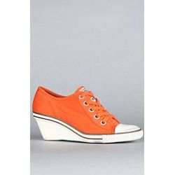 Ash Shoes:The Ginger Sneaker in Orange Canvas, Sneakers for Women | www.findbuy.co