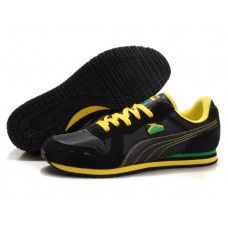Mens Puma Bolt Shoes 1011 With Black Yellow shoes for sports