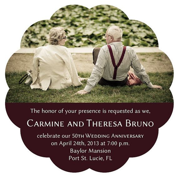 Wedding Annivesary Announcement Invitation By MainStreetMagnets See More Save The Date For An Anniversary Party