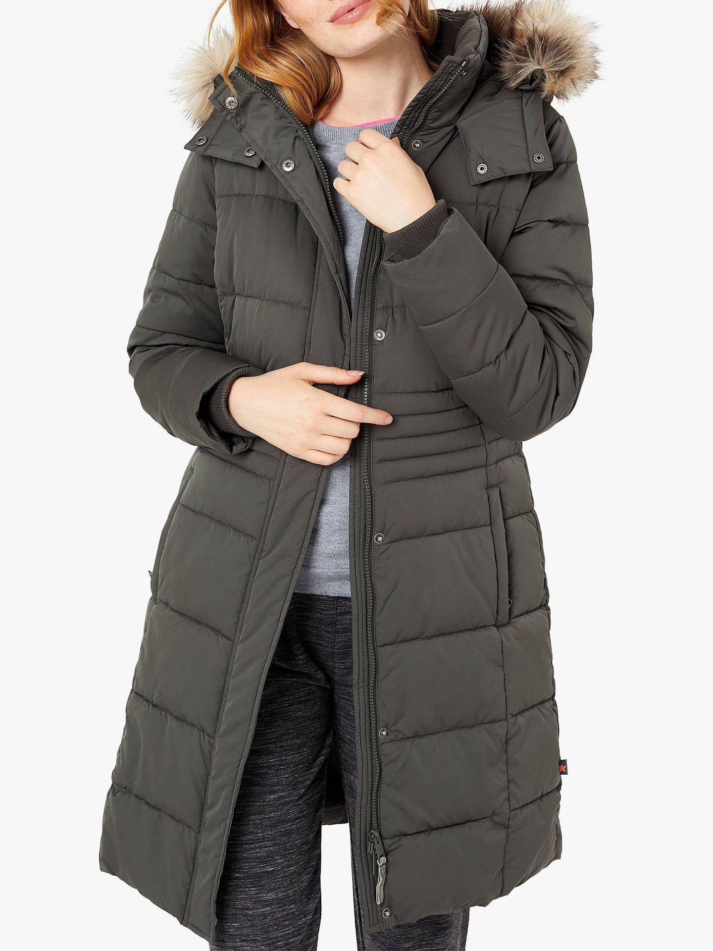 c39f9202858 BuyWhite Stuff Thirlmere Long Puffer Coat, Khaki, 6 Online at johnlewis.com