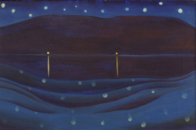 Starlight Night, Lake George (1922), Oil on canvas, 16 x 24 in. Private Collection / © Georgia O'Keeffe Museum/Artists Rights Society (ARS),...