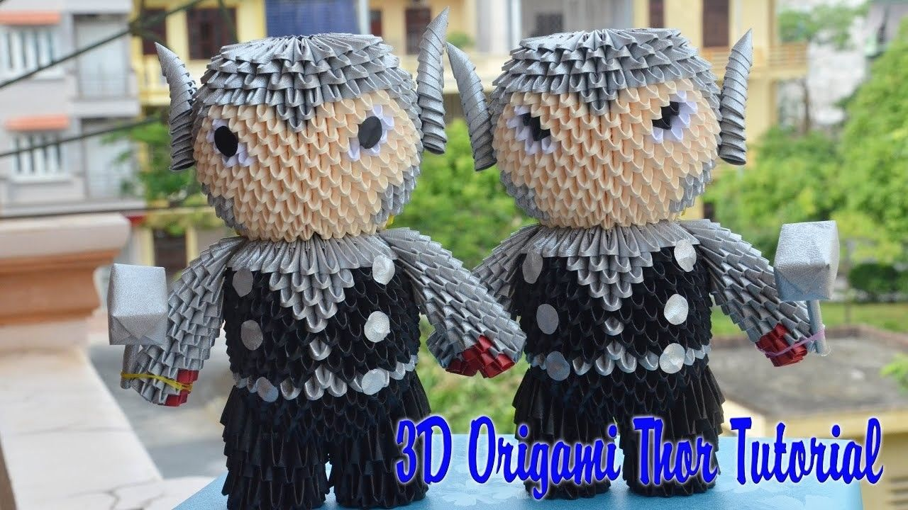 How to make 3d origami thor diy paper 3d origami and thor how to make 3d origami thor diy paper thor toy tutorial jeuxipadfo Images