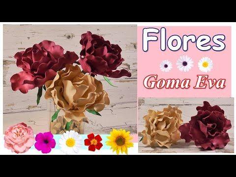 1 Como Hacer Flores Grandes De Goma Eva O Foamy Con Termoformado