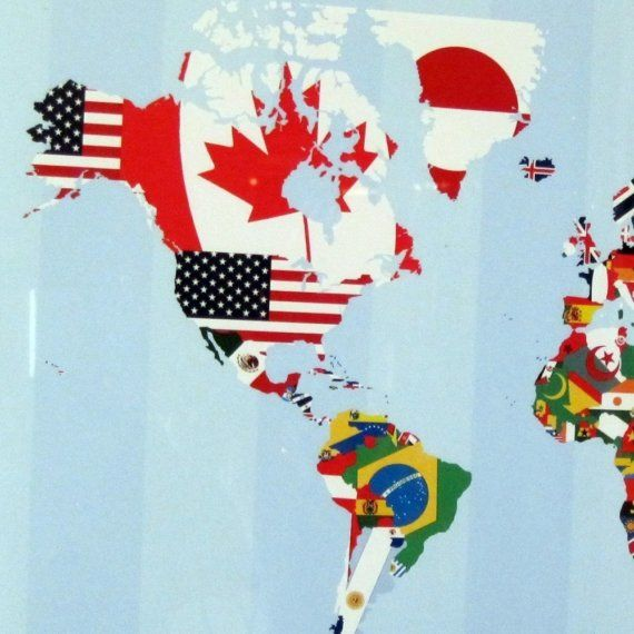 Creative world map design made with flags of by thepixelprince creative world map design made with flags of by thepixelprince gumiabroncs Gallery