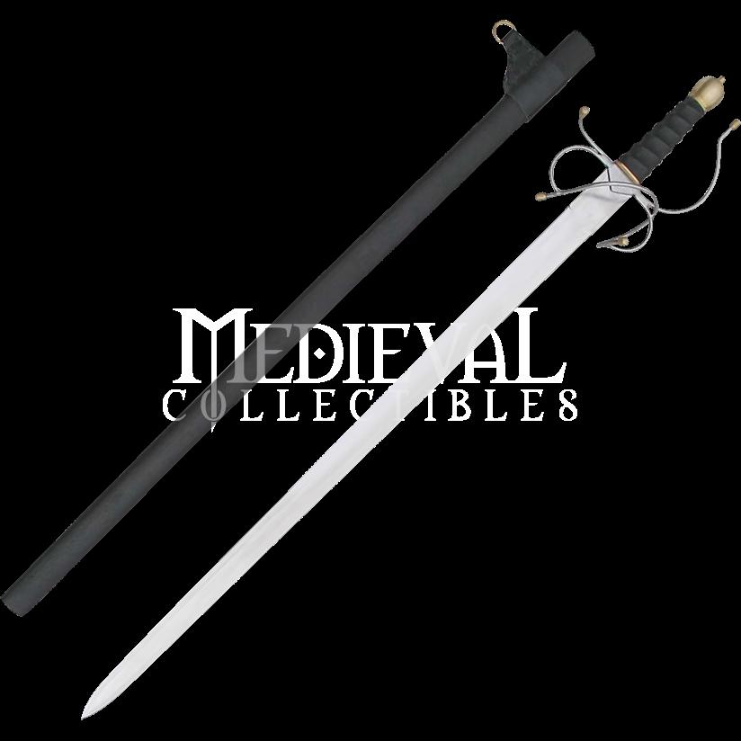 New Archers Medieval War Sword w Leather Sheath