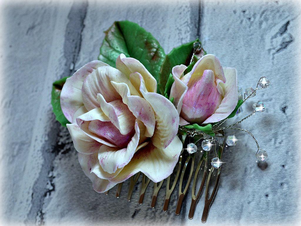Bridal Hair Comb Shabby Chic Roses Garden Wedding Hair Piece Life