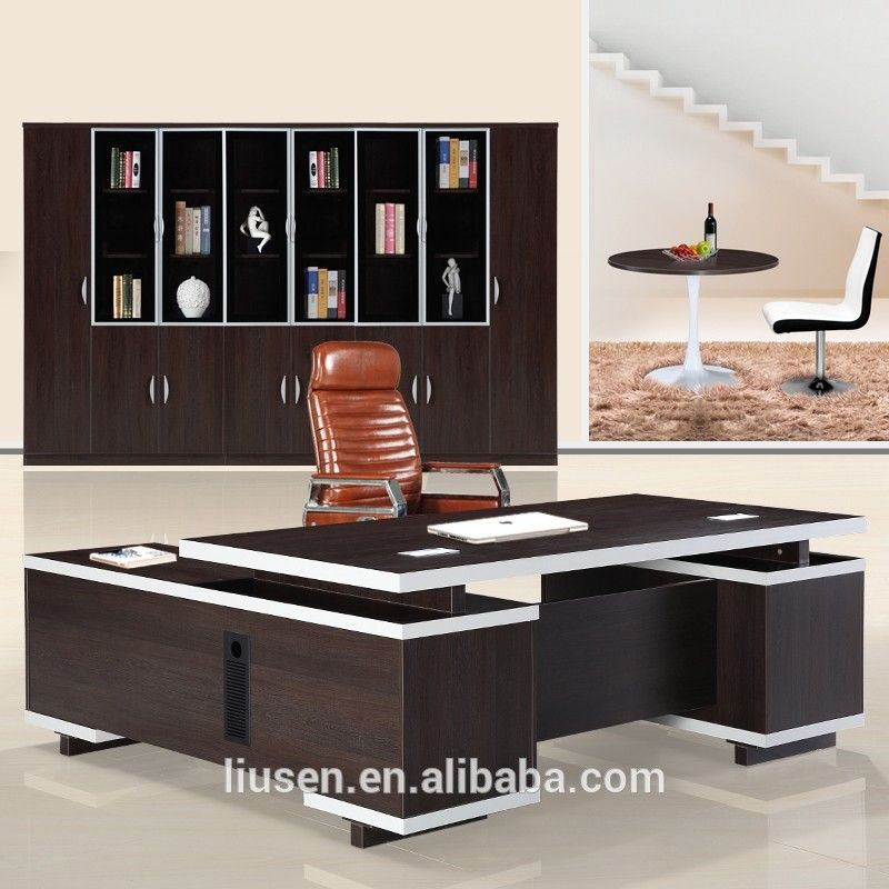 Factory Price Chairman Furniture Solid Wood Office Desk Of Modern