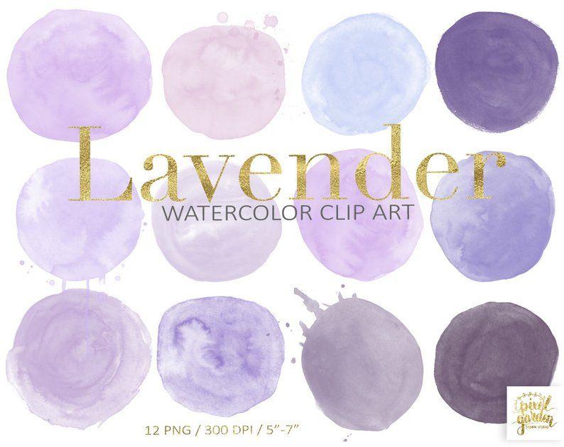 Lavender Watercolor Circles Clip Art Purple Logo Design Etsy Watercolor Circles Purple Logo Design Clip Art