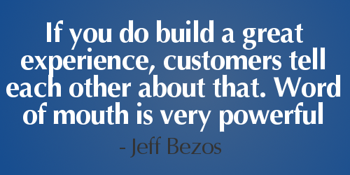 If You Do Build A Great Experience, #customers Tell Each