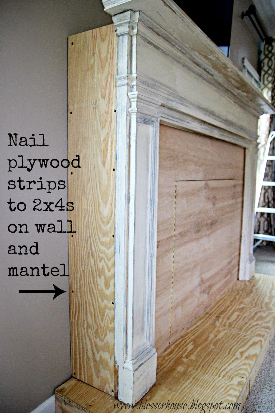 DIY Faux Fireplace Entertainment Center Part One Faux