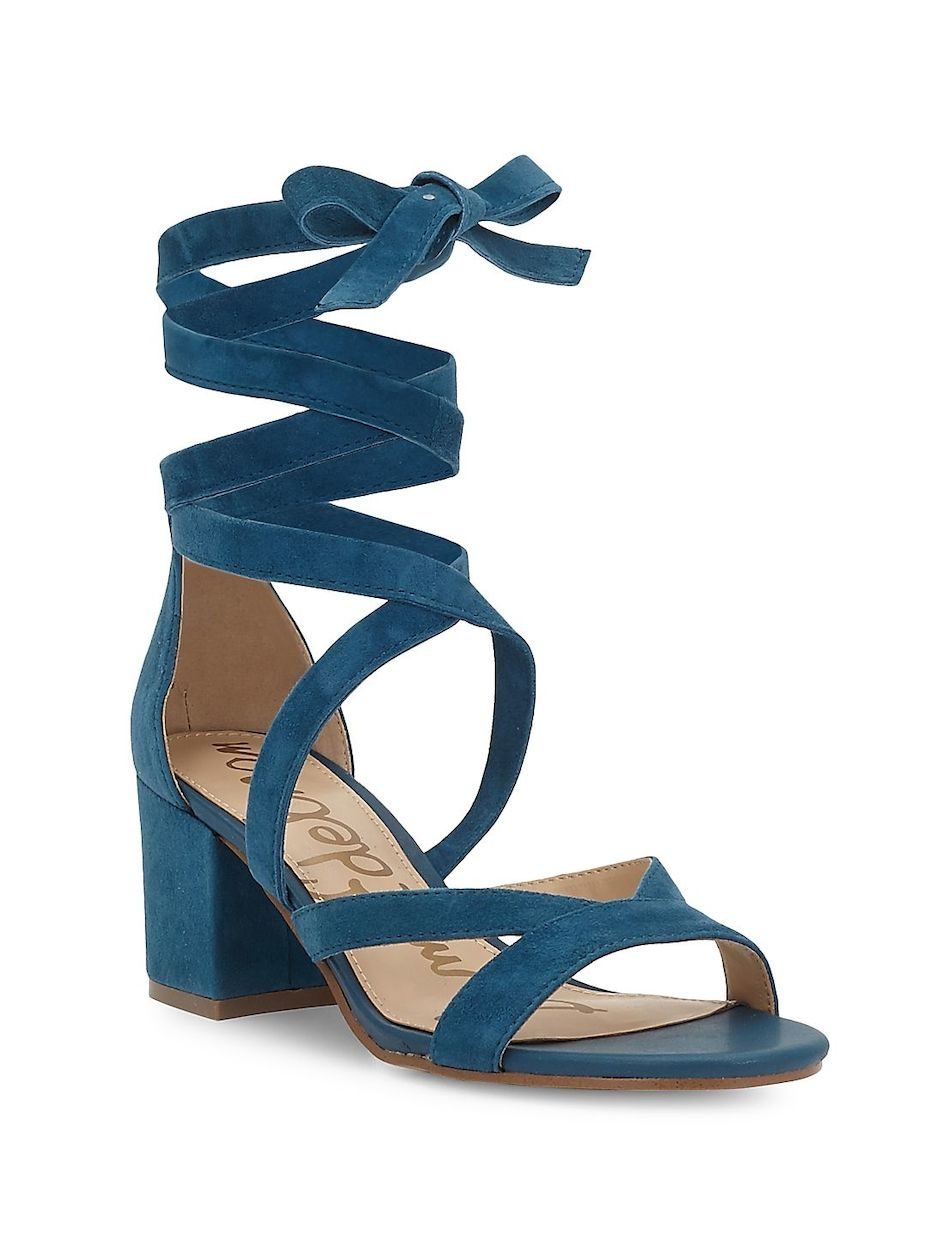 86135fbe409 Sam Edelman Sheri Ankle Tie Block Heel Sandals