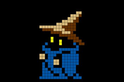 Black Mage Final Fantasy Wizard Pixel Art Pixel Art Pixel