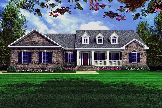 Country Style House Plan 3 Beds 2 5 Baths 2002 Sq Ft Plan 21 130 Country Style House Plans Ranch Style House Plans House Plan Gallery
