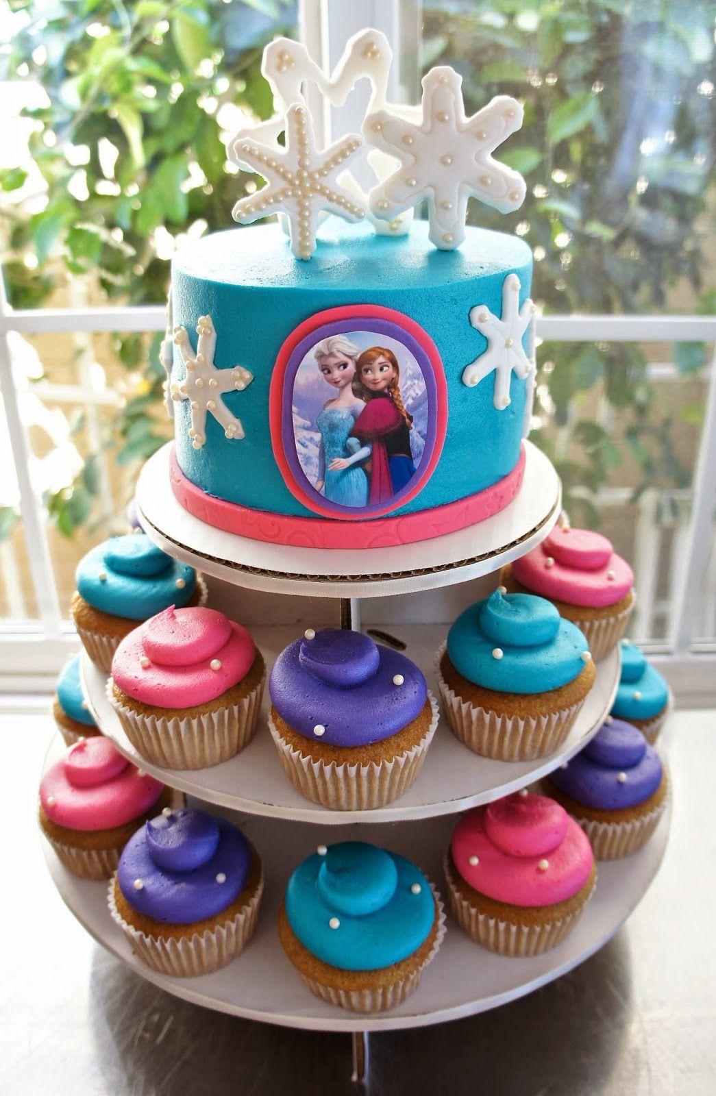 Frozen birthday party decorations ideas  FROZEN CAKE by Half Baked Co  frozen birthday  Pinterest