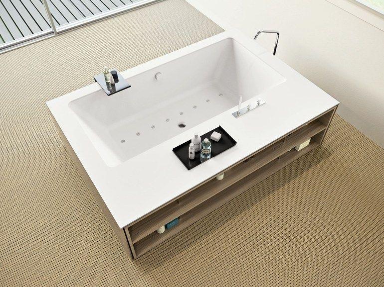 Vasca Da Bagno Freestanding Corian : Vasca da bagno centro stanza idromassaggio in corian my style by