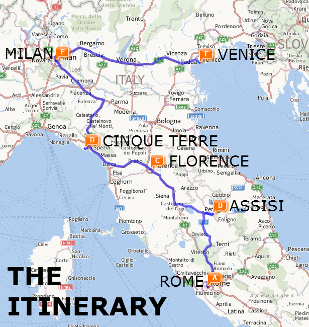 The Best of Italy by Train A Two Week Itinerary Italy Italia and