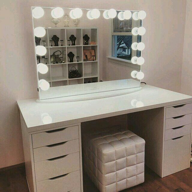 We Could Stare Into This Gorgeous All Day. Featured: With Frosted LED Lights  IKEA Table Top Ikea Alex Drawers
