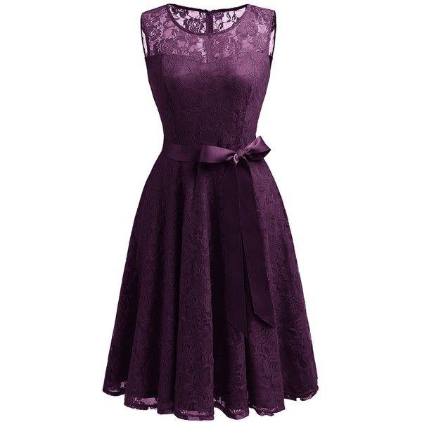 Dressystar Women S Fl Lace Dress Short Bridesmaid Dresses With 21
