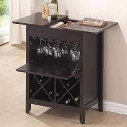 modern wine rack furniture. Shop For Baxton Studio Agaue Modern And Contemporary Dark Brown Wood Dry Bar Wine Cabinet Rack Furniture