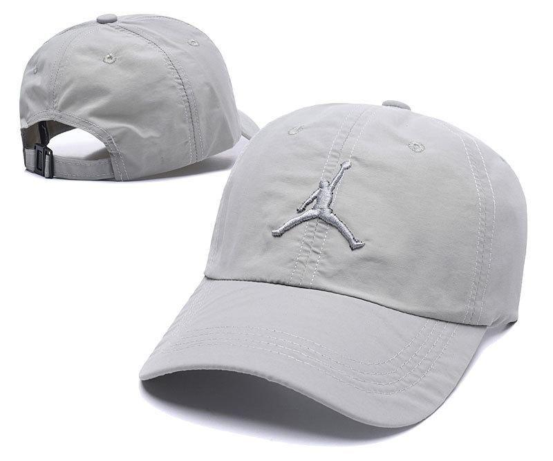 Men's / Women's Nike Air Jordan The Jumpman 3D Embroidery Logo Curved Dad Hat - Grey