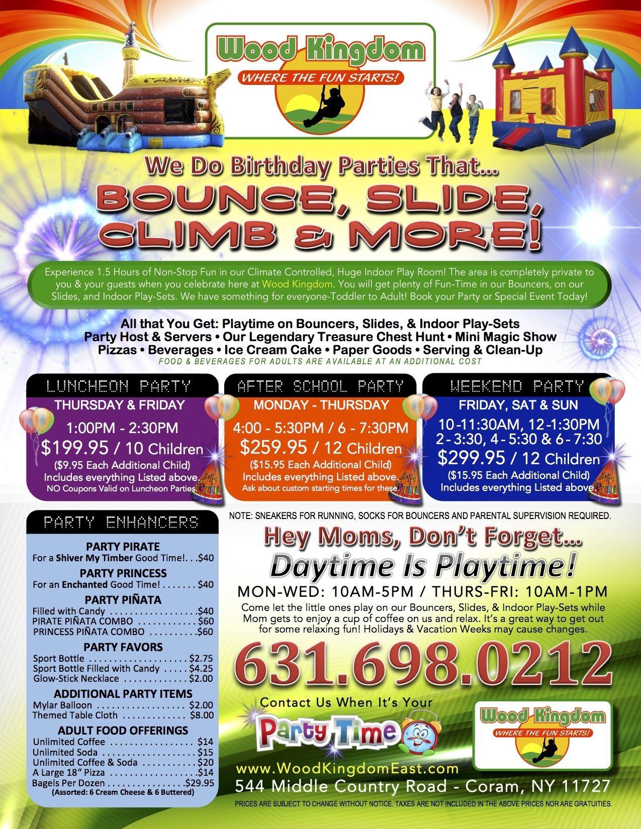 Birthday Parties At Wood Kingdom East