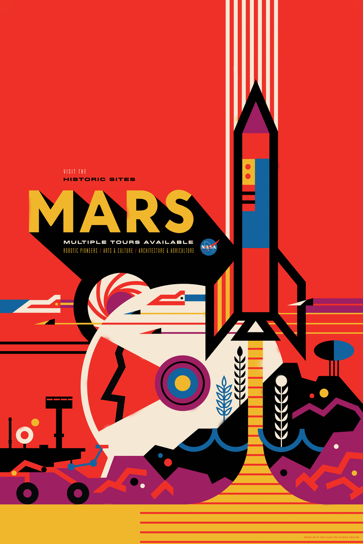 Poster design firms - Mars Nasa Poster Design