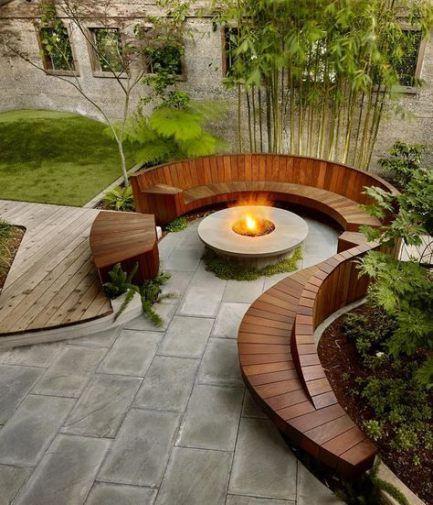 House exterior wooden spaces 25+ Ideas #feuerstellegarten
