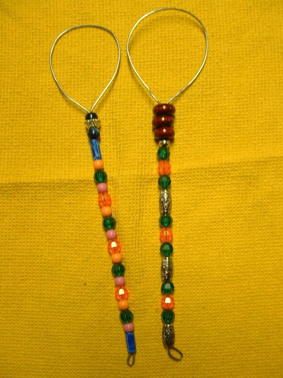 2 Large Handcrafted Beaded Bubble Wands  112.5 by Kats3meows, $13.50