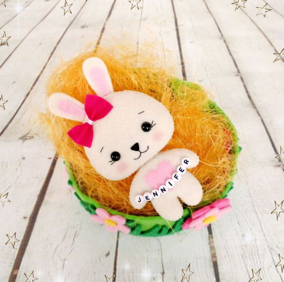 Easter gifts for girls bunny toy felt rabbit easter personalized easter gifts for girls bunny toy felt rabbit easter personalized 1st birthday gift easter basket girl negle Gallery