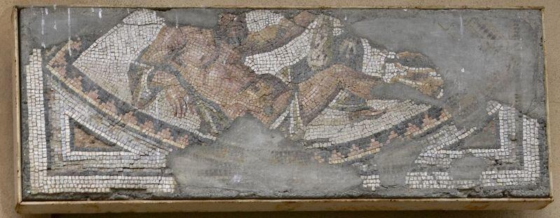 Fragment of mosaic pavement: reclining Herakles (ca. 325 A.D.) - Princeton University Art Museum