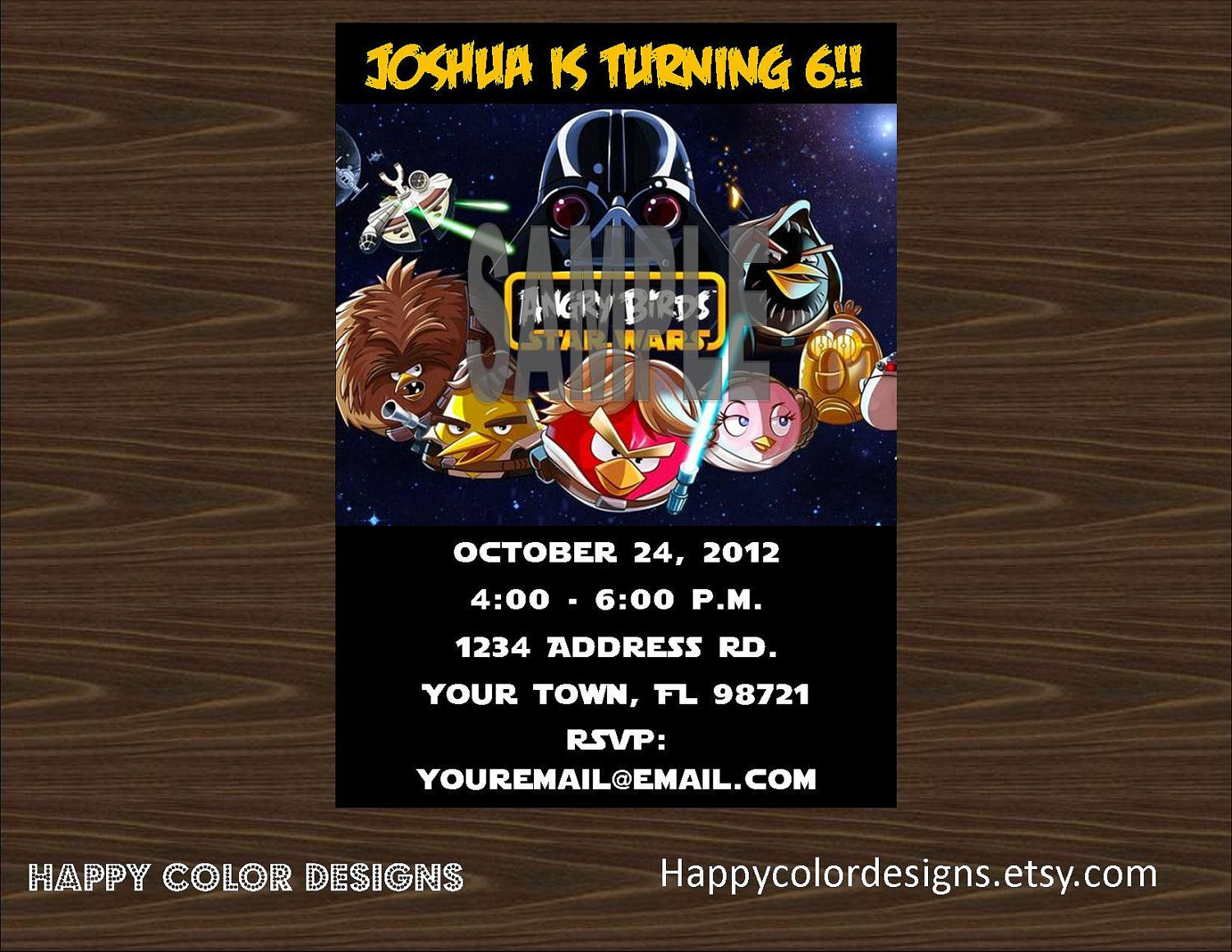 Angry Birds Star Wars Invitation