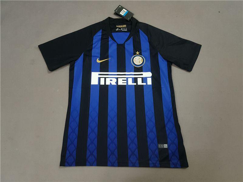 best website ced70 fb4a2 Inter Milan Home Kit Football Jersey 2018/2019 Serie A New ...