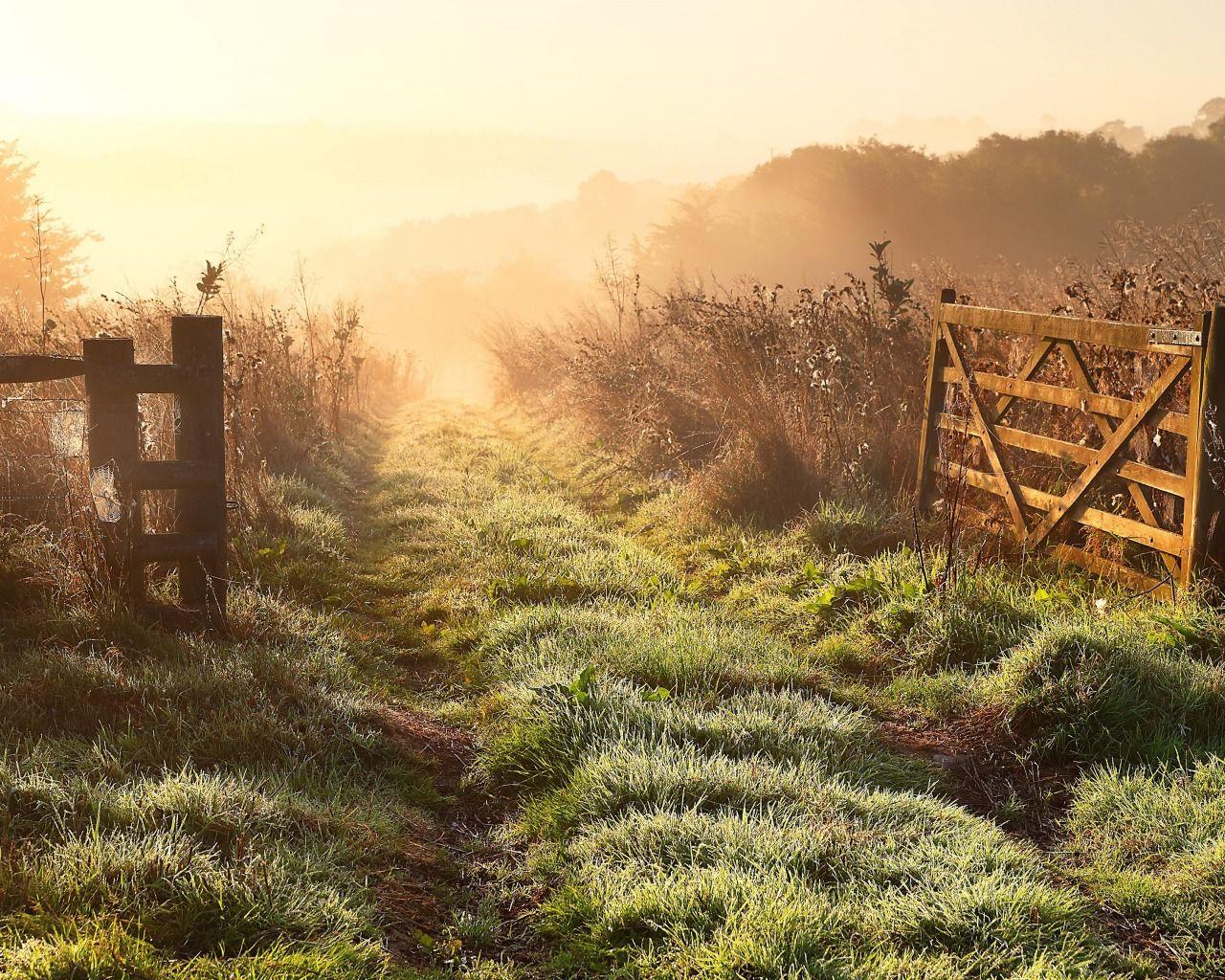 Обои Пейзаж, забор. Пейзажи foto 7