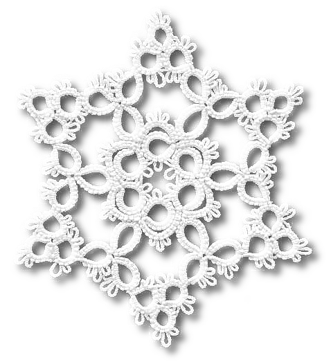 TATtle TALES Tatting Patterns: Tatting Snowflake Pattern Loop de Loop