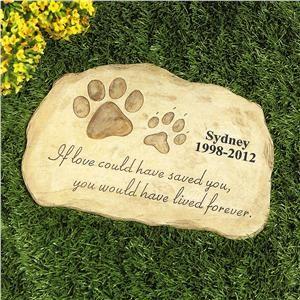 Pet Memorial Garden Stone Personalized Pet Gifts Lillian Vernon Outdoor Living Lillian