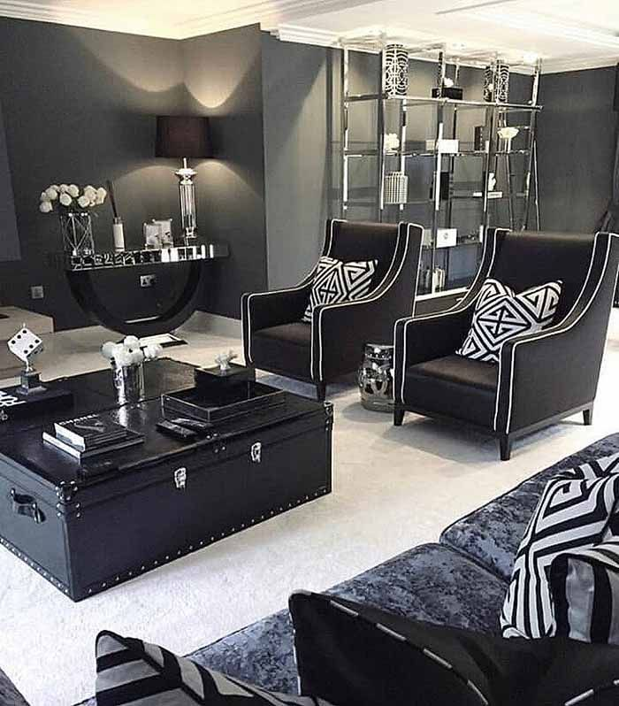 Best Art Deco Living Room Black And White Living Room B W 400 x 300