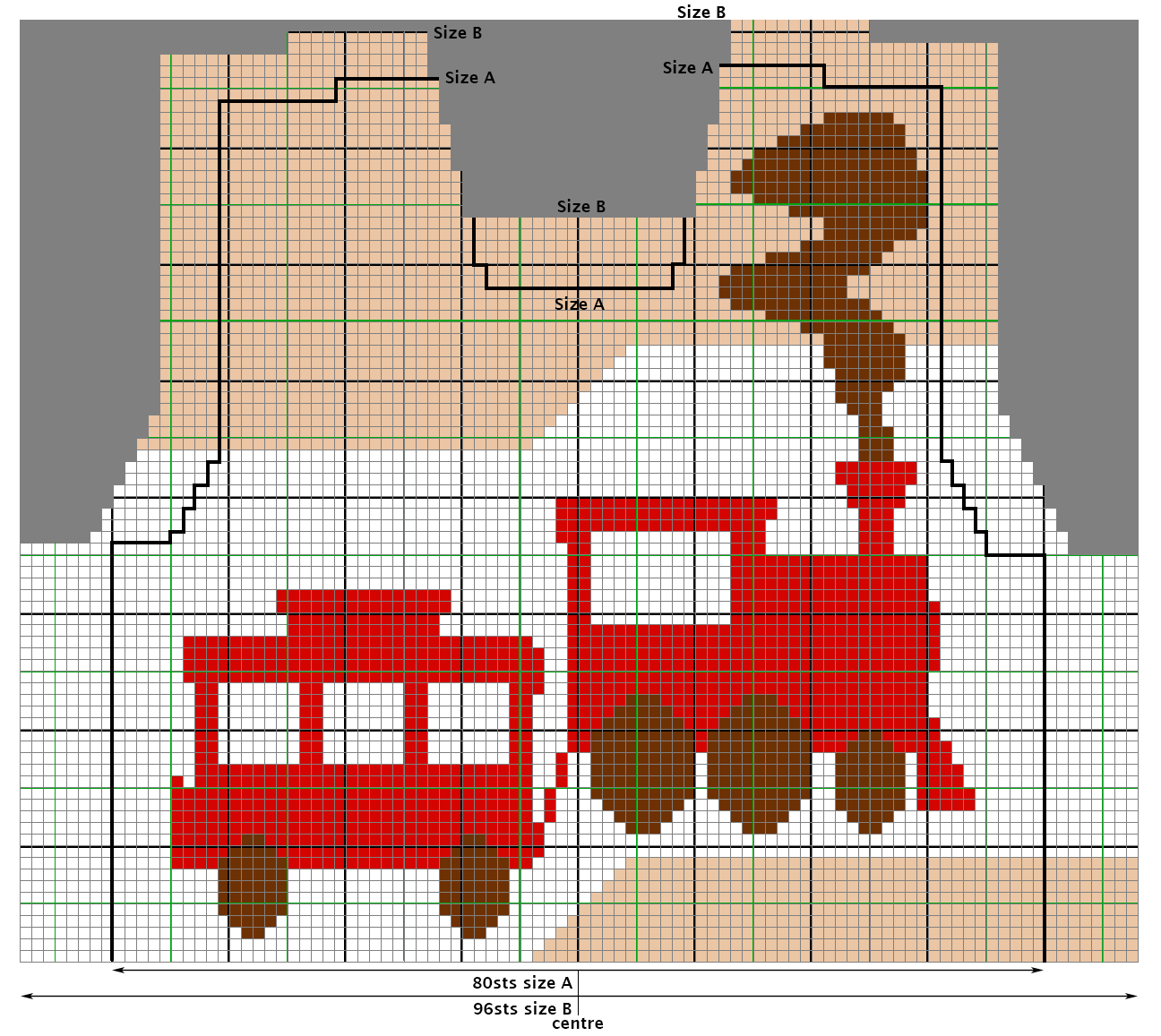 Chart for Chuff-Chuff Train intarsia Sweater/Jumper - free knitting ...