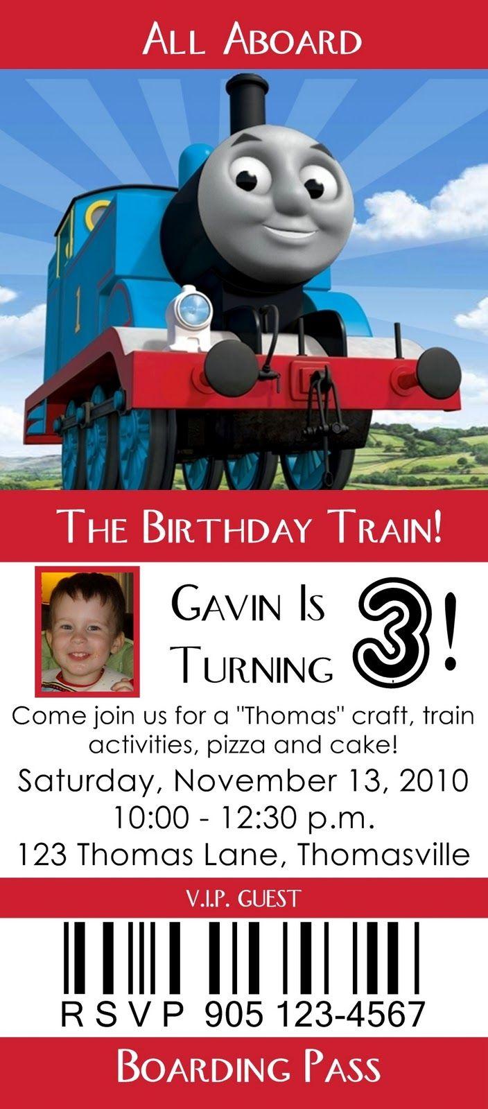 Thomas the Tank invite! I love Thomas! :) | D is Turning 3 ...